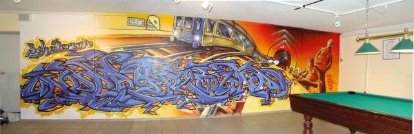 Der Powerraum mit dem berühmten Grafitti von besok.