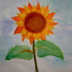 Sonnenblumen im Kunstunterricht